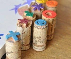 cork, diy, and stamp image