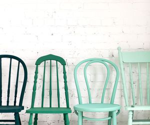 chair, green, and nice image