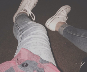 converse, street outfit, and denim image