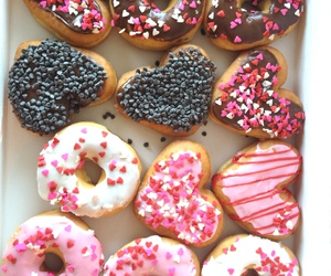 donuts, food, and heart image