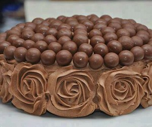 chocolate, cake, and rose image