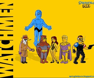 comic, heroes, and watchmen image