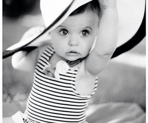 baby girl, beautiful, and hat image