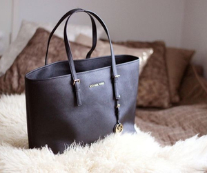 bag, Michael Kors, and black image