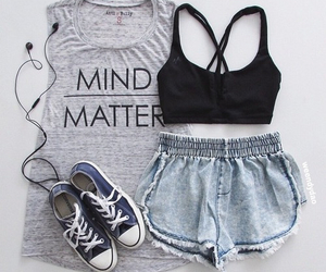 outfit, sport, and style image