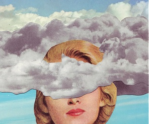 clouds, vintage, and art image