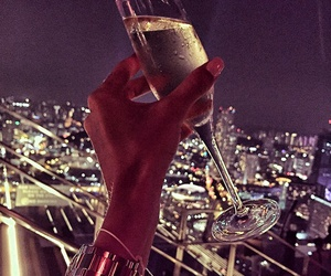 champagne, night, and city image