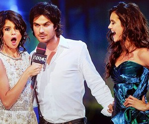 selena gomez, ian somerhalder, and the vampire diaries image