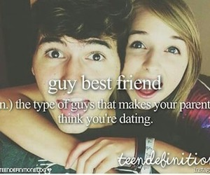 best friends and guy image