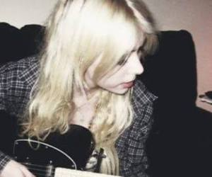 Taylor Momsen, guitar, and music image