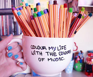 music, life, and colour image