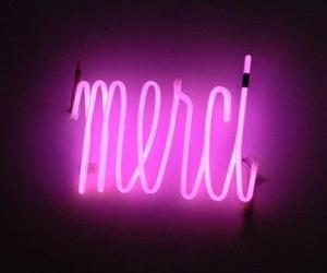 merci, neon, and pink image