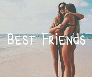 beach, girl, and best friends image