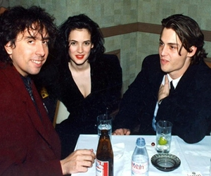 johnny depp, tim burton, and winona ryder image