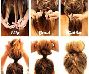braid, bun, and Easy image