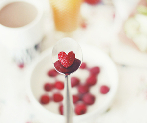 heart, food, and strawberry image