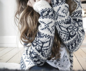 cardigan, fashion, and winter image