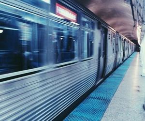 train, grunge, and blue image