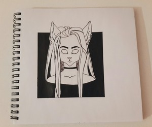 black, book, and draw image