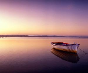 boat, calm, and still image
