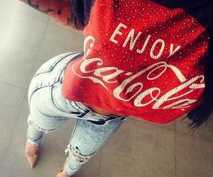 fashion, style, and coca-cola image