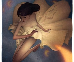 dreamy, girl, and illustration image