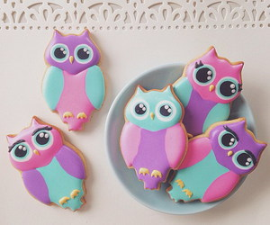 owl, Cookies, and delicious image