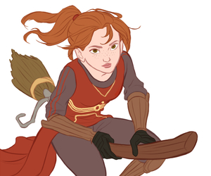 ginny weasley, harry potter, and quidditch image