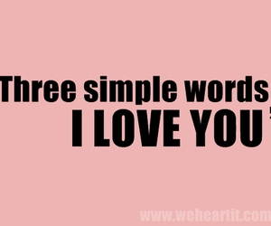 I Love You, me, and words image