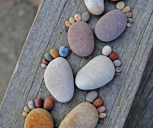 feet, stone, and rock image