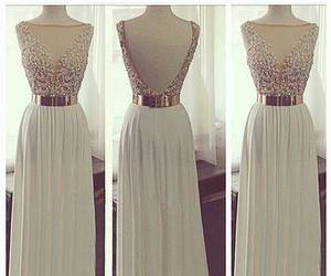 dress, prom dress, and white image