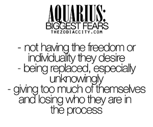 aquarius, astrology, and fear image
