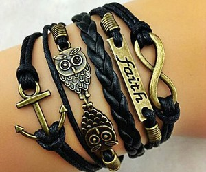 bracelet, owl, and anchor image
