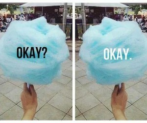 okay, cotton candy, and blue image