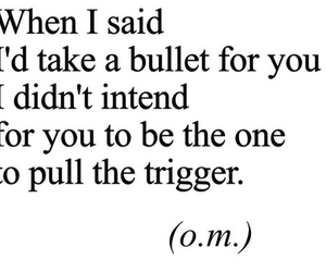 quote, bullet, and sad image