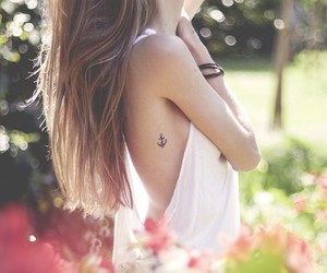 tattoo, girls, and ancre image