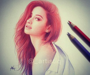 art, drawing, and shay mitchell image