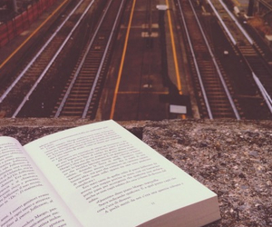 book, train, and read image