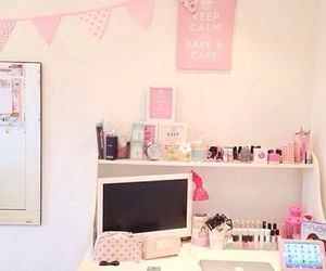 room, girly, and pink image
