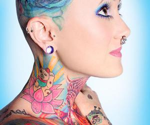 bald, Tattoos, and beautiful image