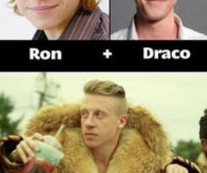 funny, harry potter, and draco malfoy image