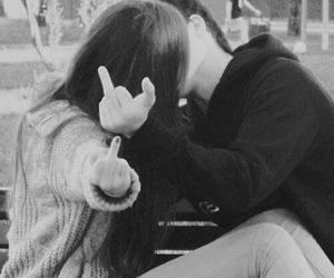 boy and girl, kiss, and girl and boy image