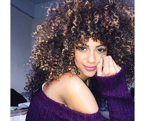 hair, beauty, and curls image