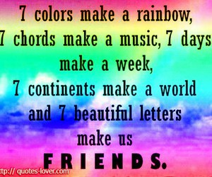 friends, rainbow, and quote image