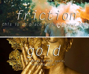 gold, music, and imagine dragons image