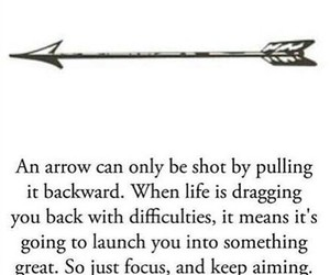quotes, arrow, and life image