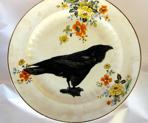 plate and raven image
