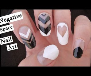 girl, nail art, and negative space image