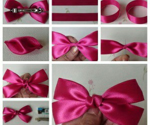 diy, bow, and pink image