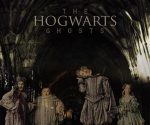 harry potter, hogwarts, and ghosts image